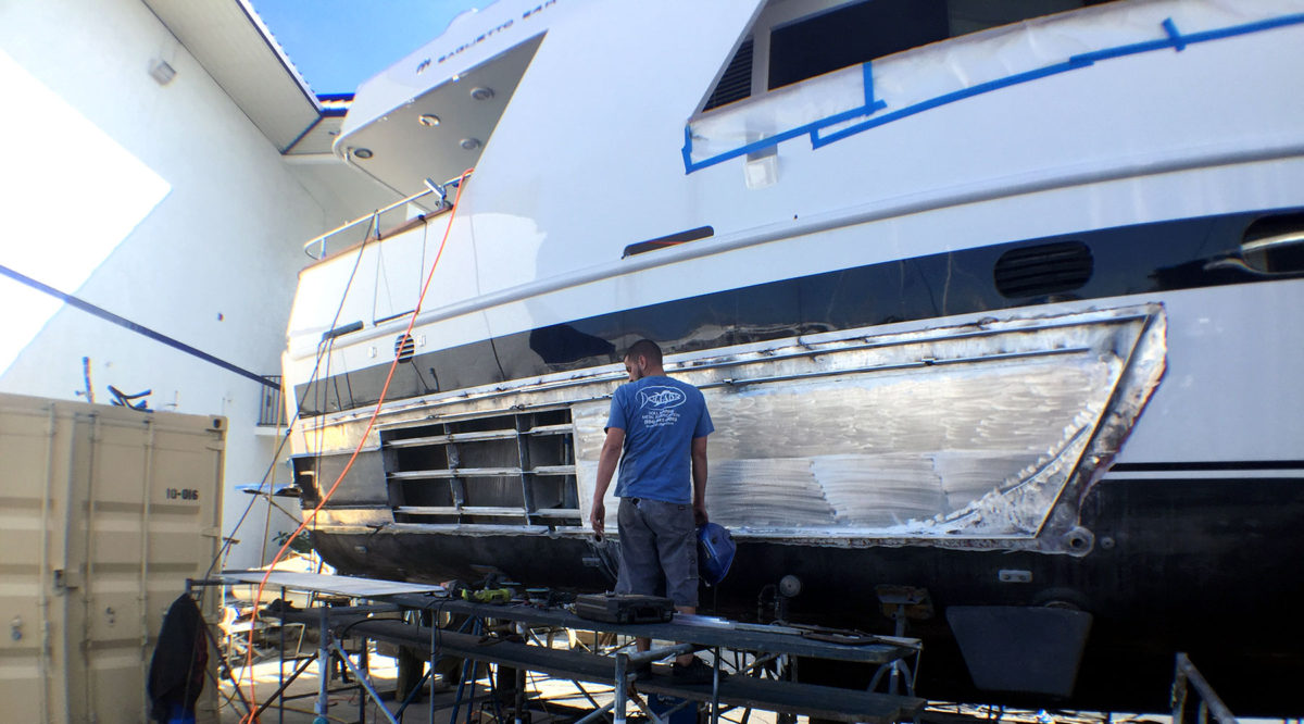 AJAO Hull Restoration: Yacht Refitting