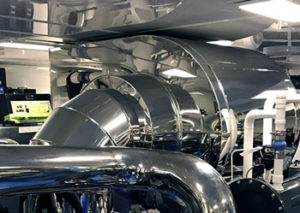 New marine exhaust system on Helios