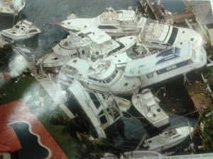 Boats after Hurricane Andrew