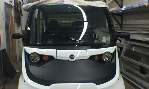 GEM Electric Car vendor: Custom Doors